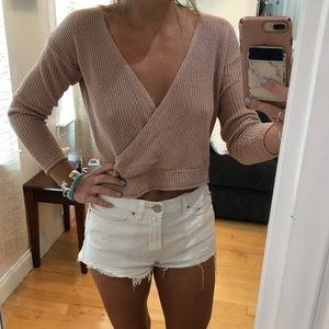 Tops - Open Back Cropped Sweater